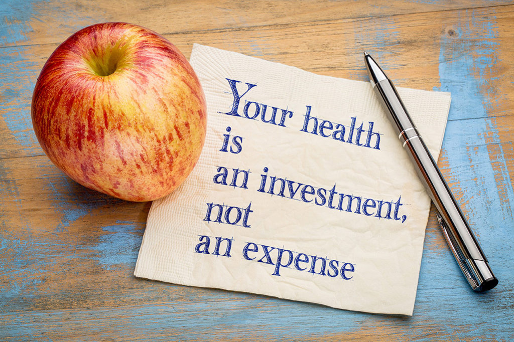 apple and note about health